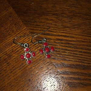 Jewelry - Red Cross earrings